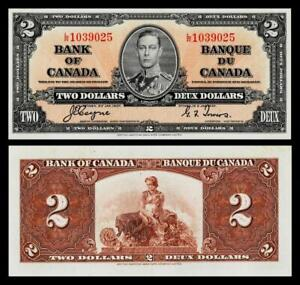 1937 Canada $2 Dollar Banknote<<  UNCIRCULATED