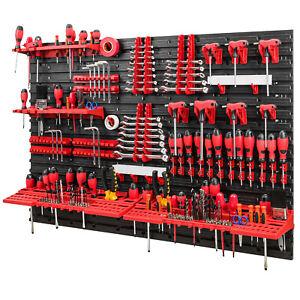 Werkzeugwand -1152 x 780 mm - Set 58 Werkzeughaltern mit Lochwand Lagersystem Wa