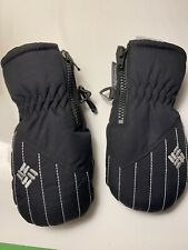Infant Columbia Mittens - O/S Infant Size - Black With Gray Trim