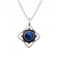 NEW 925 Sterling Silver & Abalone Shell Flower Necklace, 2 Colours, UK Seller