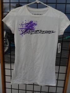 NOS Suzuki Woman's Kanji Hayabusa Short Sleeve Top Shirt T-Shirt 990A0-16155 D-4
