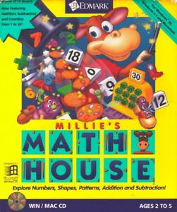 Millie's Math House Pc New Cd Rom Only In Paper Sleeve Win10 8 7 XP