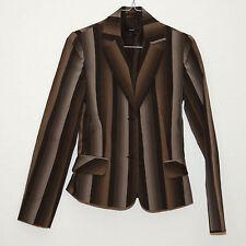 Zero Anzug, braun beige schwarz, Nadelstreifen, Hose, Blazer, Gr. 32, 34, XXS XS
