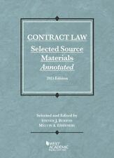 Selected Statutes: Contract Law, Selected Source Materials Annotated by Steven B
