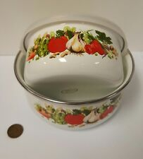Pair of Vintage Enamelware Bowls, Garden Design