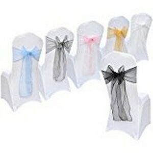 Various colours All Events Organza Chair Cover - WIDER FULLER  BOW Sash