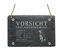 Schiefertafel « SIBERIAN HUSKY - Vorsicht - freilaufender Hund » Schild Garten
