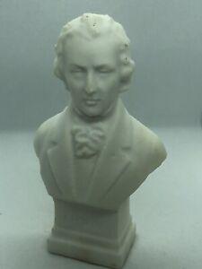 Vintage Chopin Mini Bust of Composer Alabaster