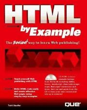 HTML by Example by Que Development Group Staff (1996, CD-ROM / Paperback)