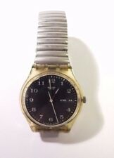 SWATCH  WATCH BLACK FACE  DATE & TIME AG 1996