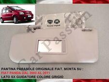 ALETTA PARASOLE FIAT PANDA 2003 - 2011 SX SINISTRA PANTINA ORIGINALE SUN VISOR