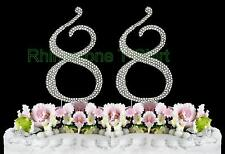 NEW Large Rhinestone  NUMBER (88) Cake Topper 88th Birthday Party Anniversary
