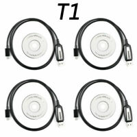 4PCS USB Programming Cable For BAOFENG BF-T1 Mini Walkie Talkie Mobile Radio GB