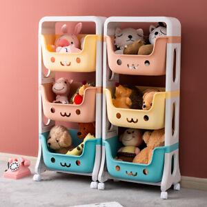 Kinderregal Spielzeugregal Beweglich Aufbewahrungsregal mit karton Spielzeugbox