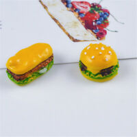10 Pack Resin Hamburgers Craft Embellishments Slime Charms Jewellery Findings
