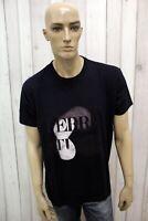 GF FERRE' Uomo Taglia XL T-shirt Blu Cotone Casual Maglietta Maglia Manica Corta