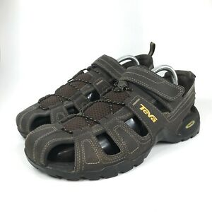 Teva Forebay Fisherman Sandal Shoe Size 11 Men's Brown Hiking Adjustable 1001116