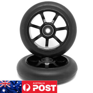 2 x 110mm ALLOY GR!ND STUNT SCOOTER WHEELS ABEC 9 BEARINGS (V4) - FREE POST
