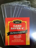 10 New Cardboard Gold Card Saver 4 Semi Rigid For PSA BGS Grading Submissions
