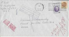 1978 Airmail Cover/Letter from Clifton, NJ to Israel (Returned) Scott #1399/1734