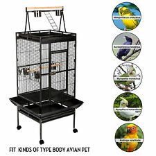 68' Large Bird Cage Play Top Parrot Finch Cage Pet Supplies Perch Macaw House