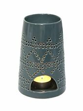 Tall Tribal Oil Burner in Dark Grey for Aromatherapy Oils & Wax Melts