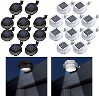 BRAND NEW Outdoor Solar Powered LED Wall Light Lamp for Fence Gutter Garden Yard