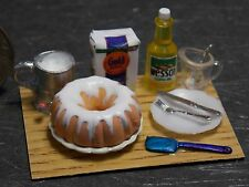 Dollhouse Miniature Bundt Cake Prep Board A Baking 1:12 scale F12 Dollys Gallery
