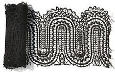 DENTELLE AUX FUSEAUX ANCIENNE DENTELLE DU PUY GUIPURE ANCIENNE : 4m x 0,25