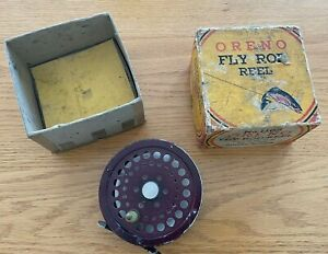 VINTAGE SOUTH BEND ORENO MODEL 1165 FLY REEL REEL WITH BOX WORKING MADE IN USA!!