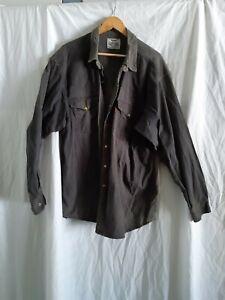 Men's Levi's orange tab black/faded Denim pearl snap Longsleeve Shirt Size XL