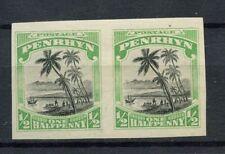Penrhyn Islands 1920 SG#32 1/2d Imperf MH Gummed Pair #A12131