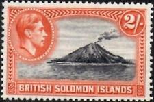 British Solomon Islands 1939 KGVI   2/- Black & Orange  SG.69 Mint (Hinged)