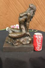 Signed Original Vitaleh Nude Female Abstract Mid Century Bronze Sculpture Statue
