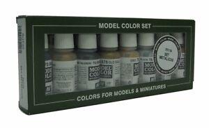 VAL70118 - AV Vallejo Model Color Set - Metallics (x8)
