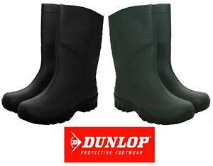 mens womens Dunlop half length wide Calf fit wellington rain waterproof wellies