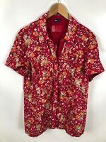 CECIL Damen Bluse, Größe XL, mehrfarbig, Muster, Kurzarm, locker, Sommer
