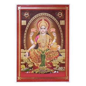 Imagen Lakshmi 33 x 48 cm dios hinduismo lámina póster religión espiritual India