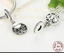Family Heritage Tree Charm Genuine 925 Sterling Silver Pandora Bracelet option