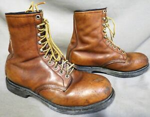 VINTAGE 1992 RED WING BROWN LEATHER HIKING FARM STEEL TOE WORK BOOTS SZ 10 D