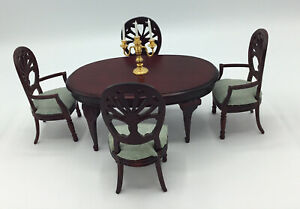 Dolls House Dining Table and Four Chairs