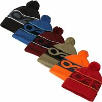 OAKLEY MENS FACTORY CUFF THERMAL WINTER SNOW BOBBLE BEANIE HAT