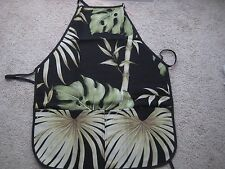 Hawaiian apron 100%poly canvas w/ 2 pockets stain-resistant coating