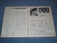 """1969 Volkswagen Vintage Tech-Info Article """"VW Flywheel Gefixen"""" Dowel Pin"""