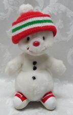 "Vintage SNOWFLAKE 11"" Russ Berrie Snowman Korea #395 Holiday Plush Stuffed Anima"