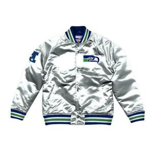 NWT Mitchell & Ness Men's Seattle Seahawks Championship Satin Jacket 3XL XXXL