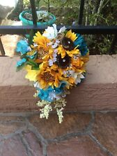 WEDDING FLOWERS BOUQUETS Decorations Sunflowers teal turquoise or choose colors