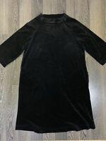 Womens Marimekko Manteli 3/4 Sleeve Black Dress Size M