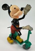 Vintage Mickey Mouse Scooter-Jockey Wind Up Toy by Mavco - Circa 1950 - Works!!!
