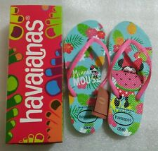 DressNStyle NWT Original HAVAIANAS Minnie Mouse Print Slippers Flip-Flops S39 FF